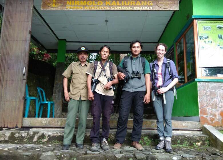 At gate Telogo Nirmolo, Gunung Merapi National Park, Jogja