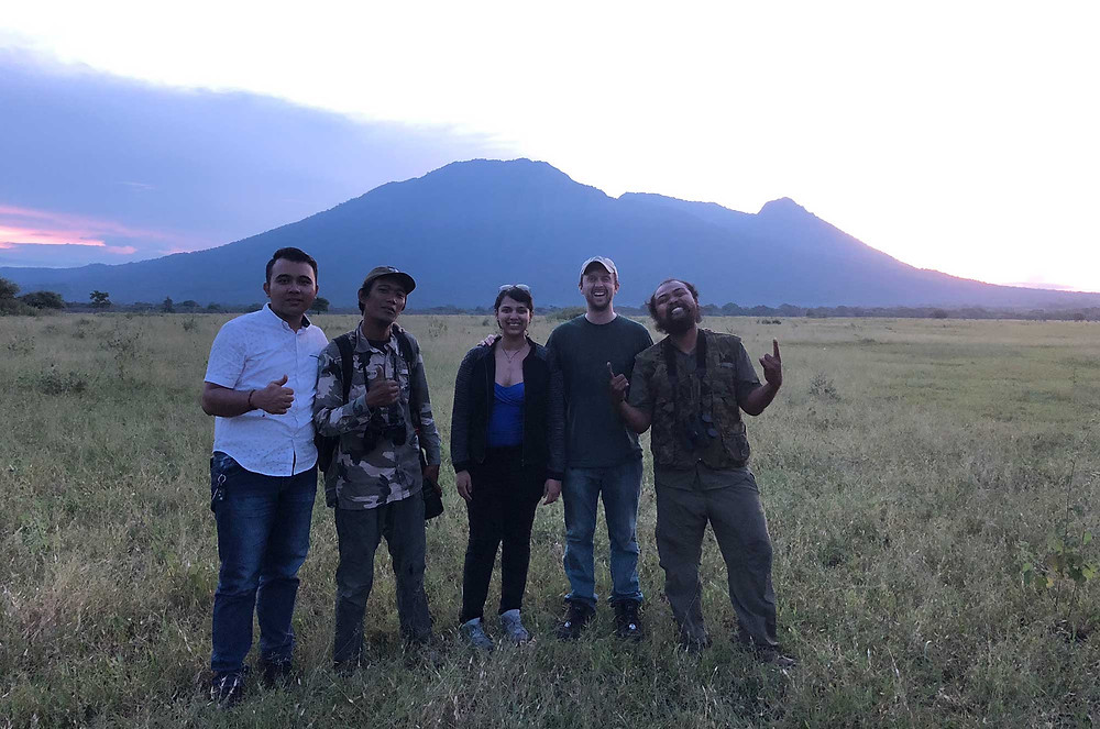 Taken photo with clients in Savanna Bekol, Baluran National Park