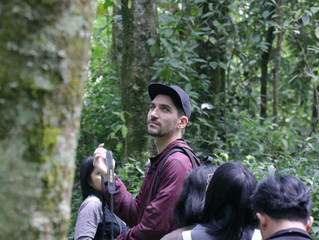 Birding in Cangar Hot Spring with Friend from England