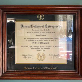 Dr. Mikes diploma