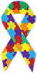 Autism awarenes ribbon