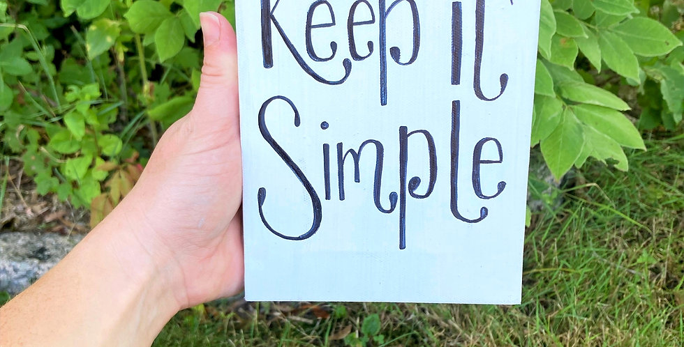 Keep It Simple Canvas