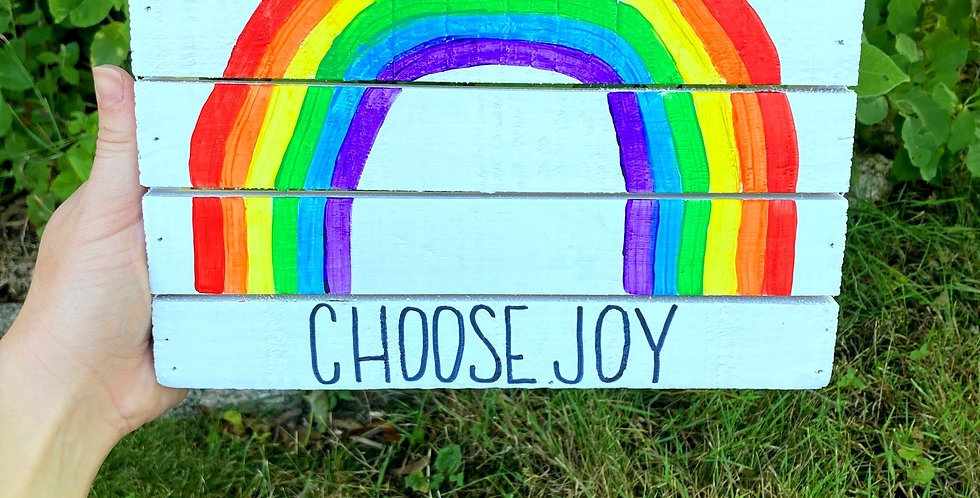 Choose Joy Rainbow