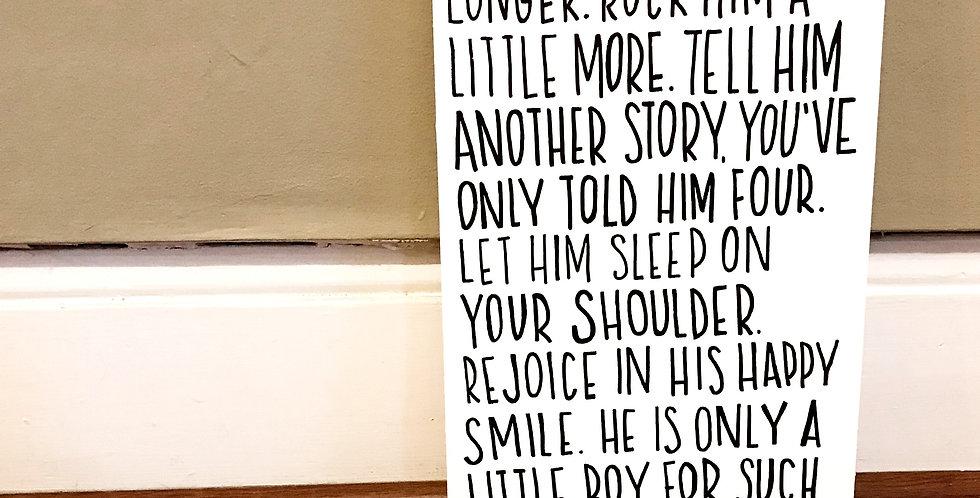 Little Boy Custom Order