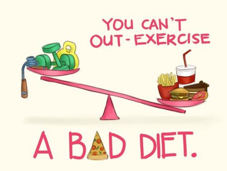 Exercise Versus Diet.  Which is more important?