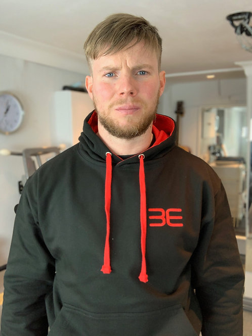 Hoodie unisex with none zip and printed rear logo