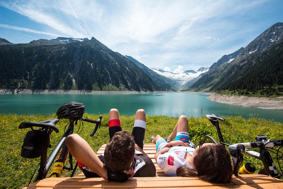 Radtour im Sommer