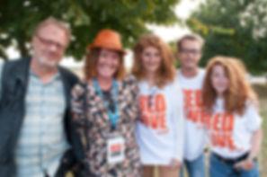 bénévoles roux au Red Love Festival