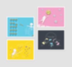 Jennifer Yuchi postcard graphic design
