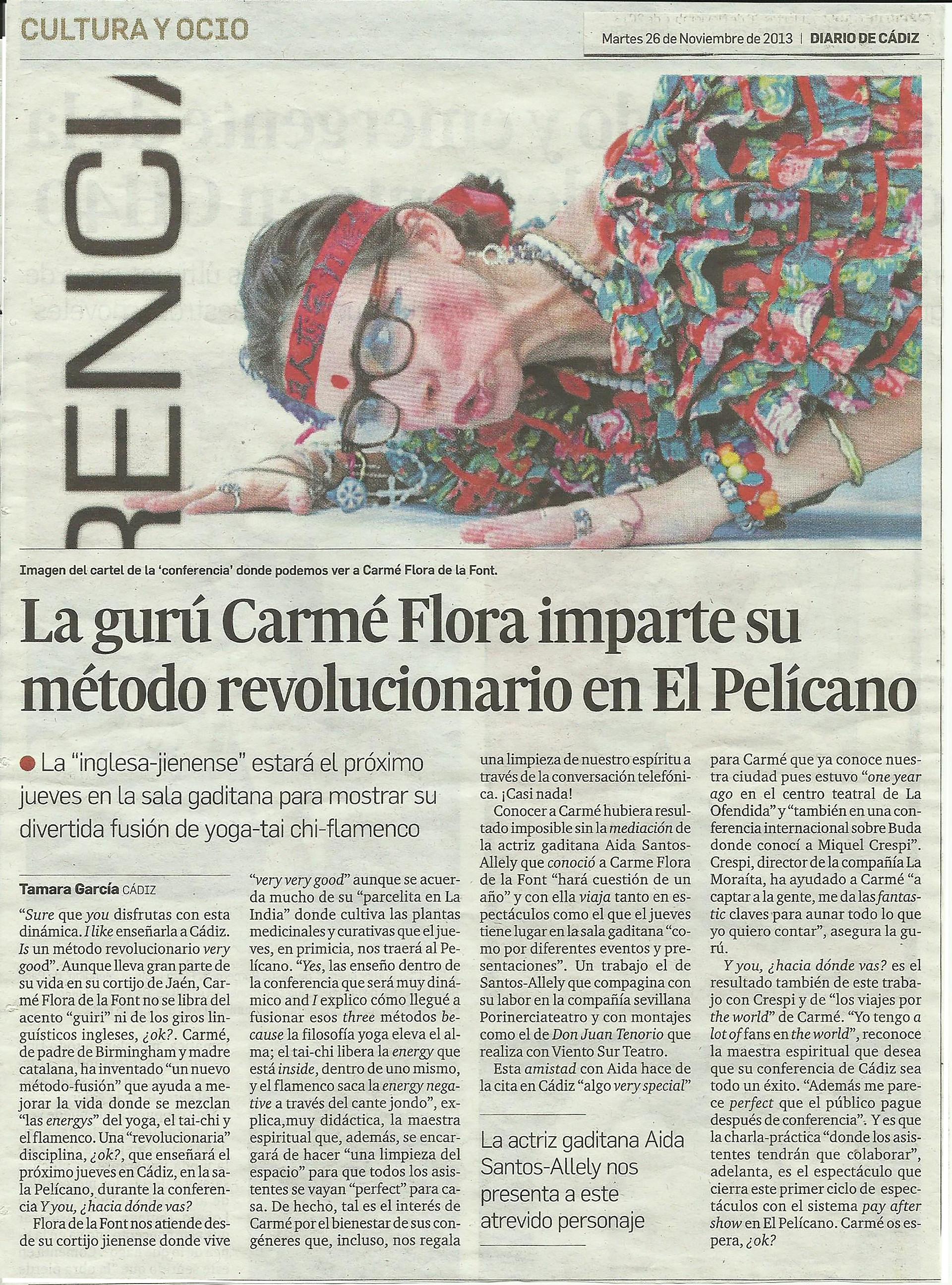 Entrevista Diario de Cádiz