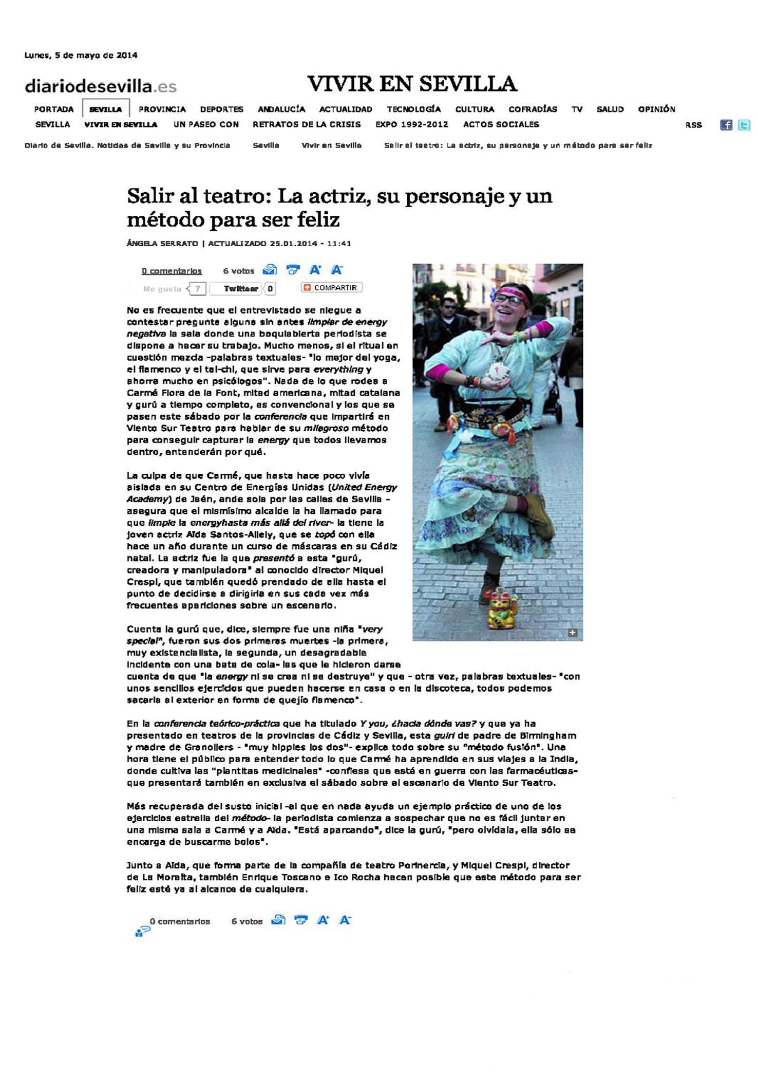 Entrevista diario de Sevilla