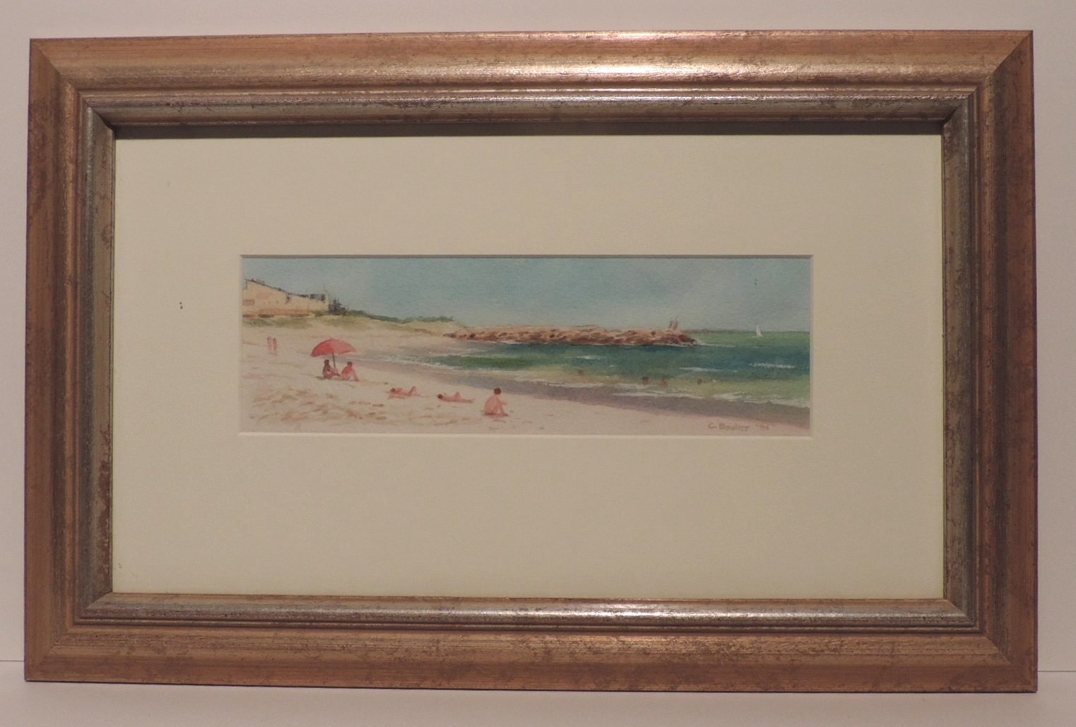 Framed Watercolour_Port_Beach