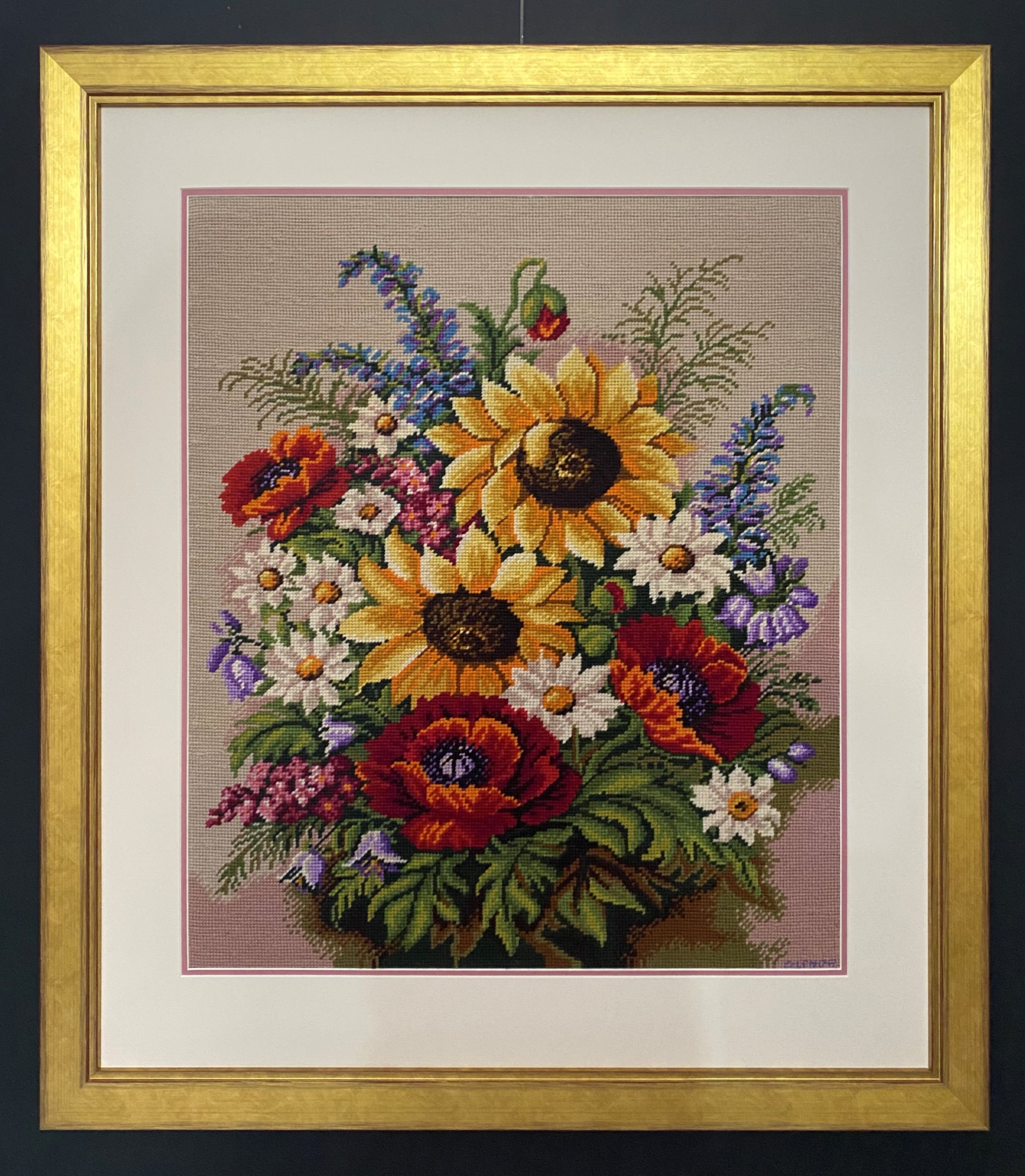 Framed_Tapestry_Sunflowers