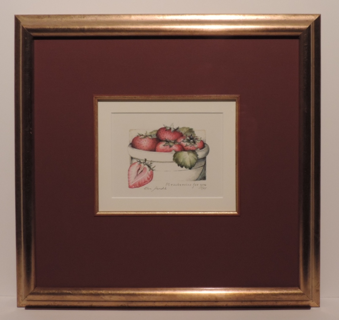 Framed Limited Edition Print_Strawberries