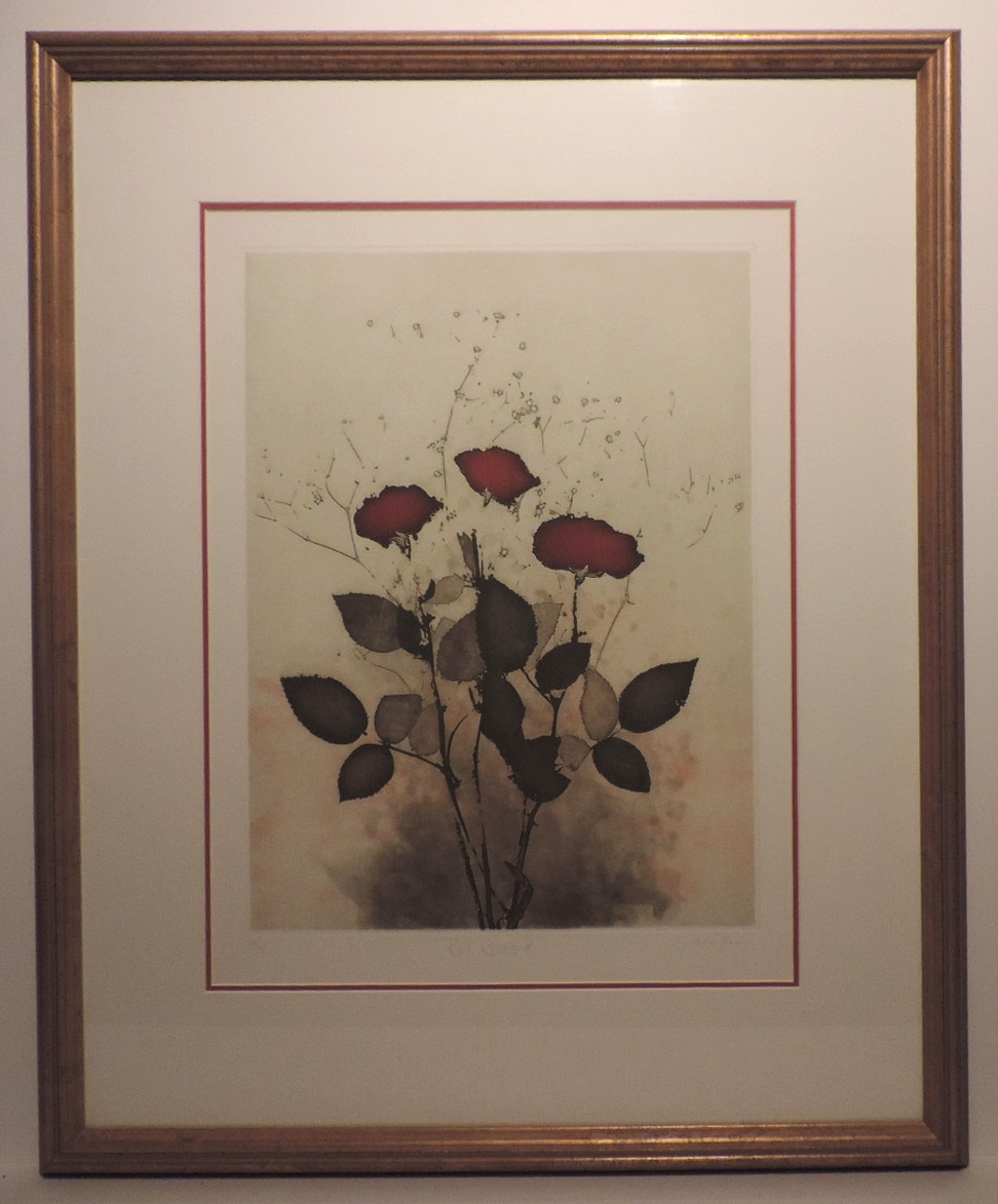 Framed_Etching_Roses