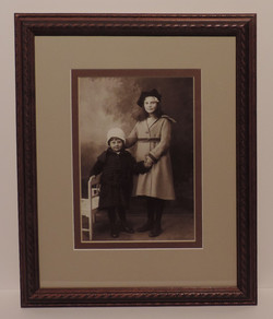 Framed_And_Restored_Sepia_Photo_Sisters
