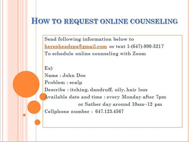 Scalp care toronto online counseling