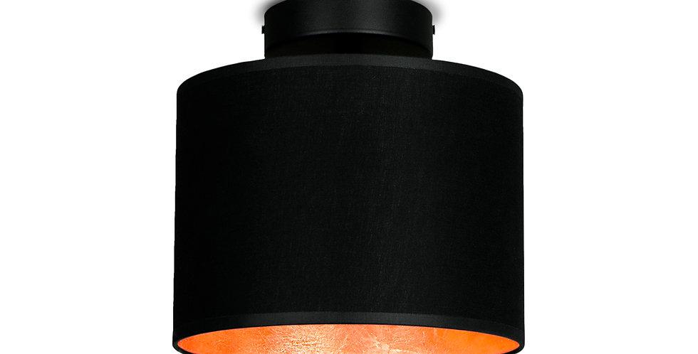 Lámpara de Techo con Pantalla de Tela de Diseño Mika XS 1_CP Negro/Cobre