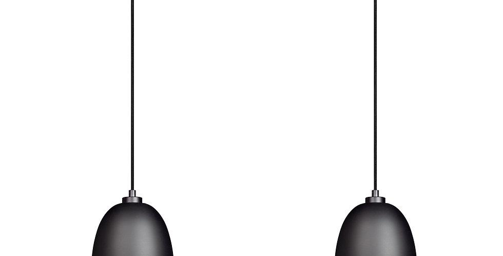 Sotto Luce - Lámpara colgante doble AWA 2 / S negro mate