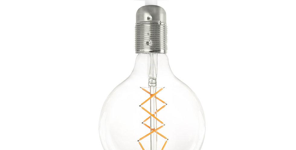 Lámpara de techo (plafón) Bi 1_CP Blanco/Plata