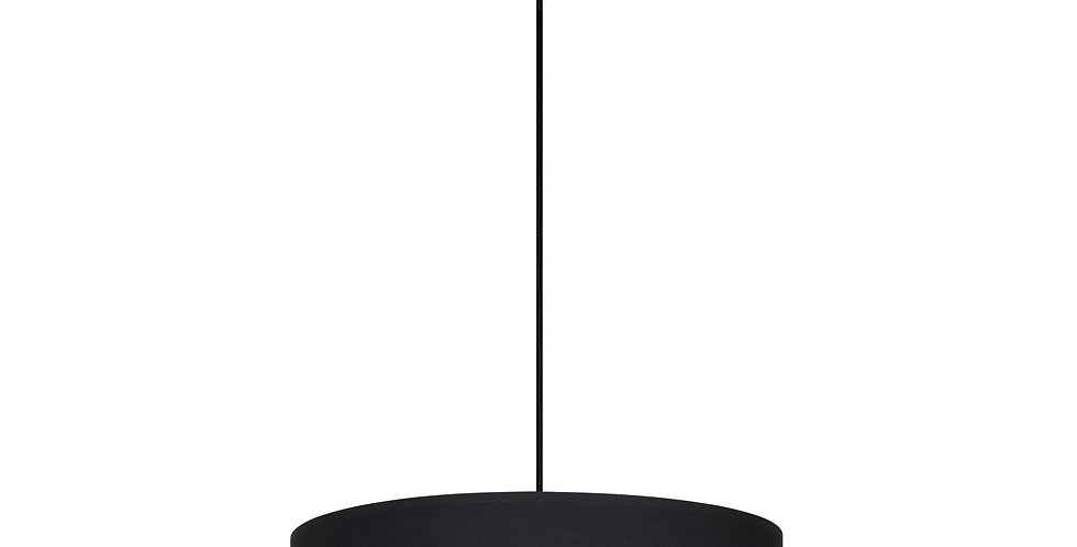 Lámpara de techo colgante de 1 Luz  Tres XL 1_S Negro/interior dorado