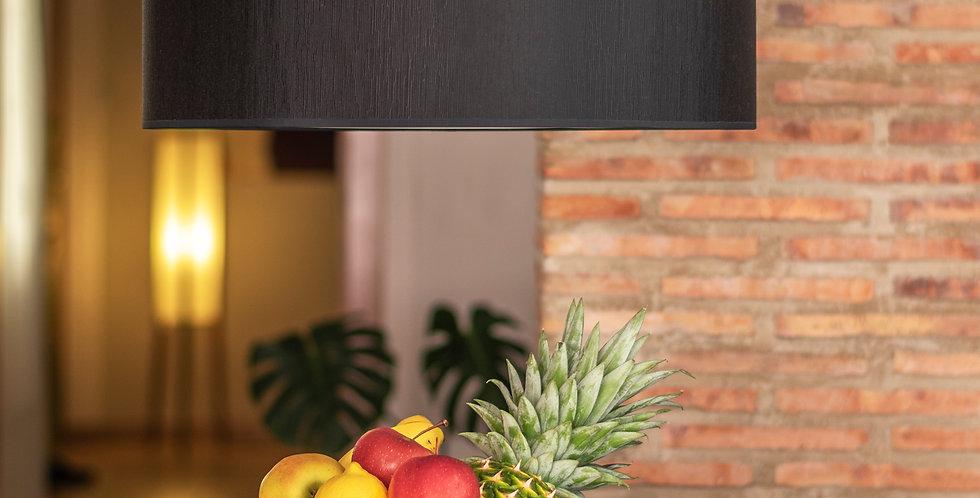 Lámpara colgante de tres bombillas Doce Slim 1_S Negro