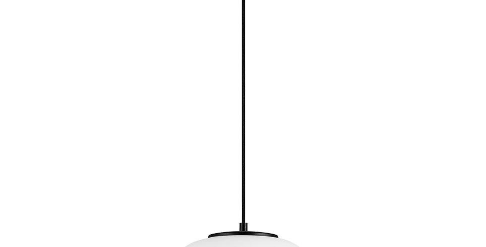 DOSEI ELEMENTARY 1/S Colgante de 1 Luz Pantalla de Vidrio Opalino soporte negro