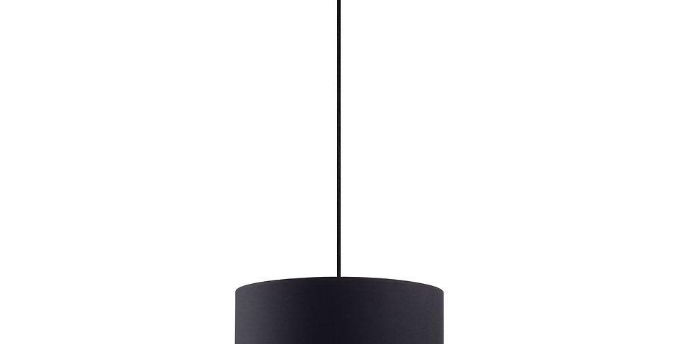 Lámpara de Techo con Pantalla de Tela de Diseño Mika M 1_S Negra/Dorada