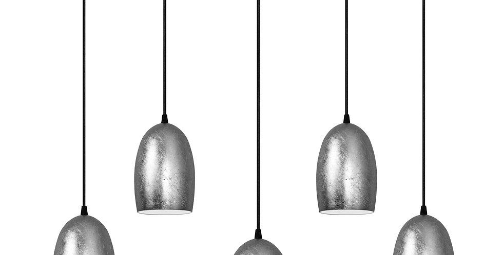 Lámpara colgante quíntuple UME 5 / S PLATA