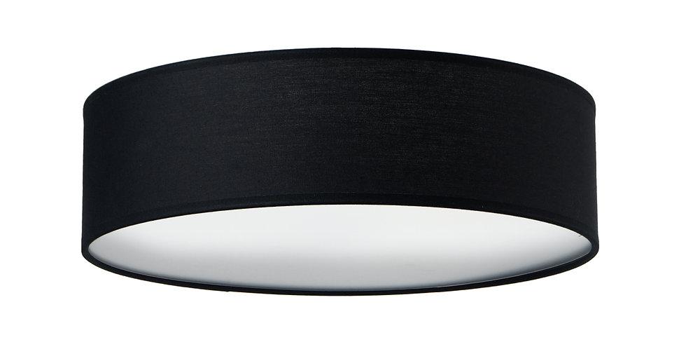 Lámpara de Techo de 3 Luces con Pantalla de Tela de Diseño Mika L 1_C Negra