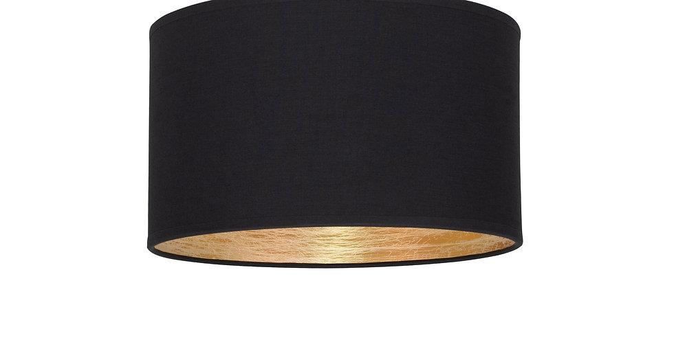 Plafón de techo de 1 Luz  Tres S 1_CP negro interior dorado