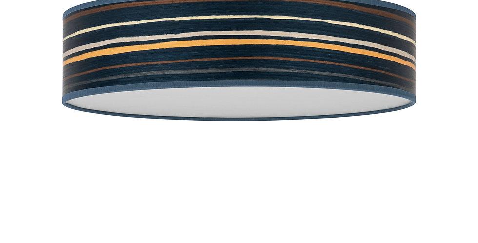 Lámpara de techo (plafón) con tres bombillas Ocho L 1_C Azul oscuro a rayas