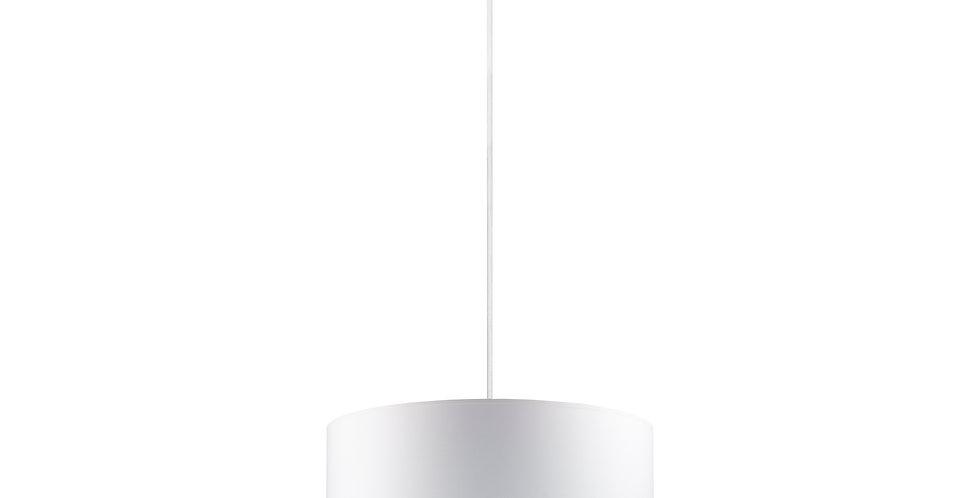 Lámpara colgante simple Mika L 1 / S Blanco