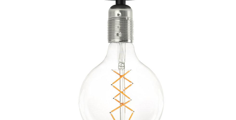 Lámpara de techo (plafón) Bi 1_CP Negro Plata