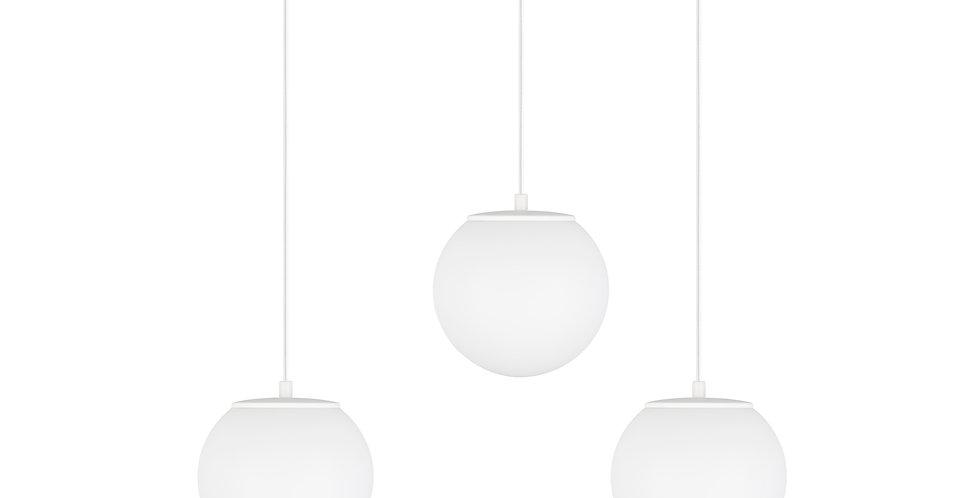 Lámpara de techo colgante Tsuki S 3_S Blanco triple