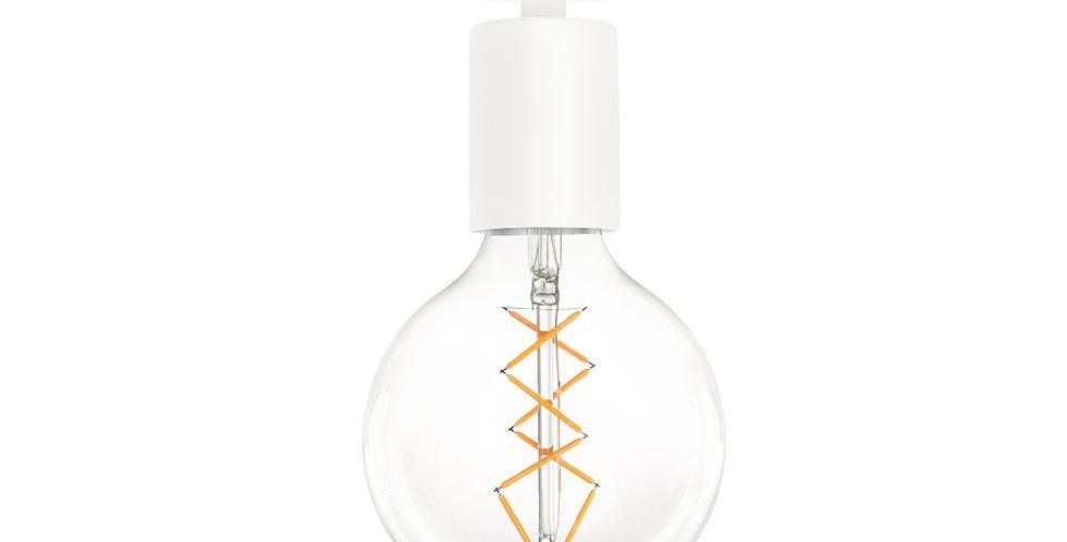 Lámpara de techo de una luz. Cero 1_CP BLANCA