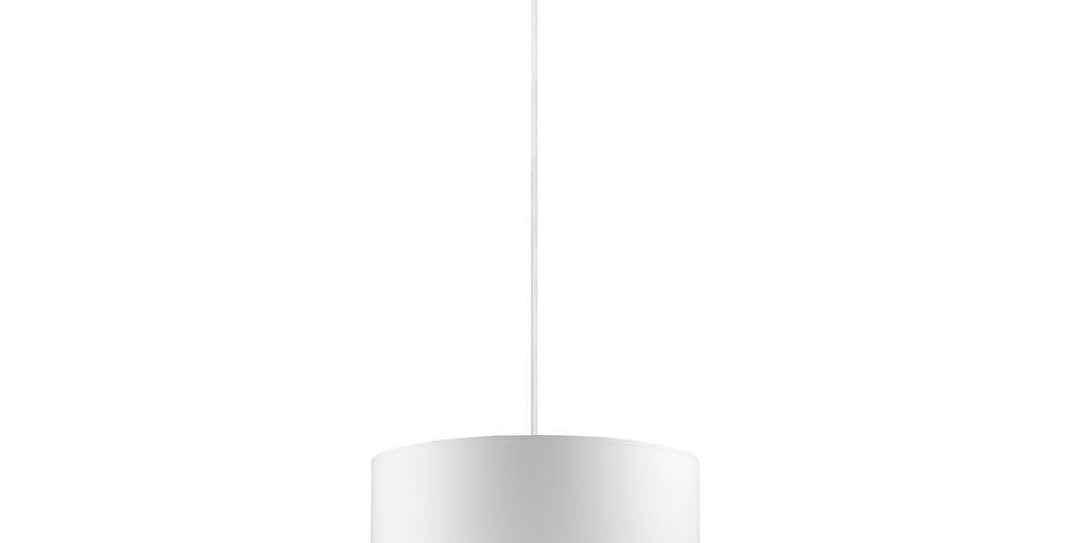 Lámpara de Techo con Pantalla de Tela de Diseño Mika M 1_S Blanca/Cobre