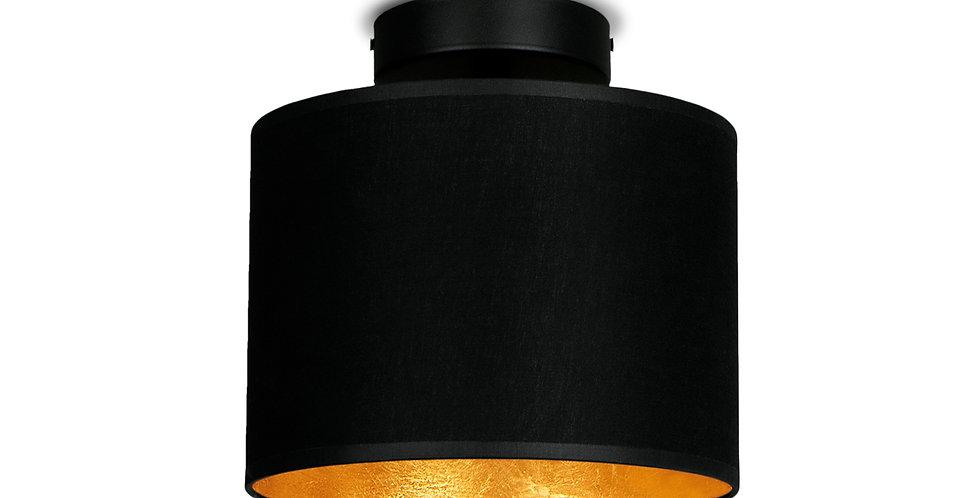 Lámpara de Techo con Pantalla de Tela de Diseño Mika XS 1_CP Negro y Dorado