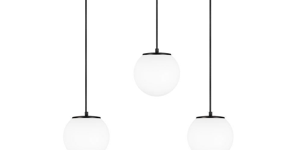 Lámpara de techo colgante triple Tsuki S 3_S Blanco/Cable negro