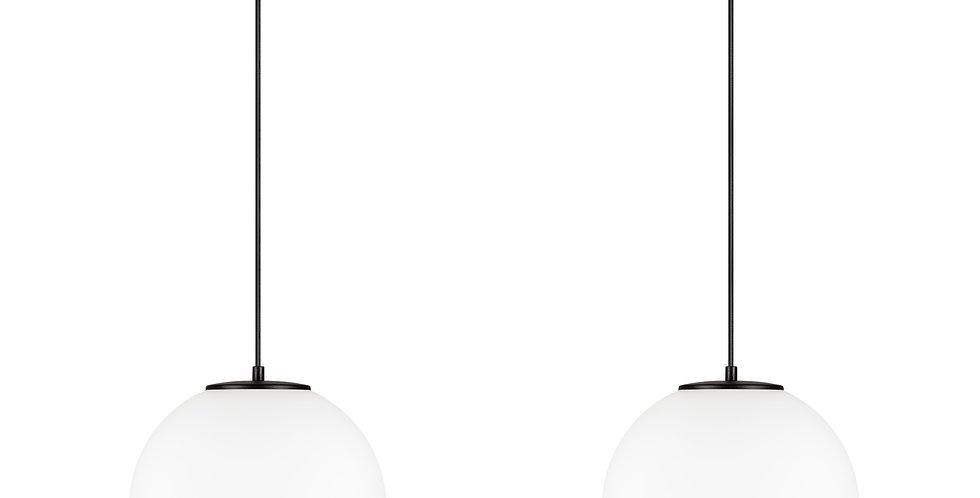 Lámpara colgante doble, blanco mate TSUKI L 2 / S