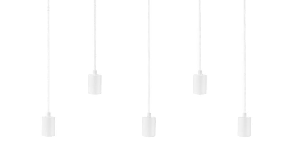 Lámpara de techo quíntuple Cero 5_S BLANCA