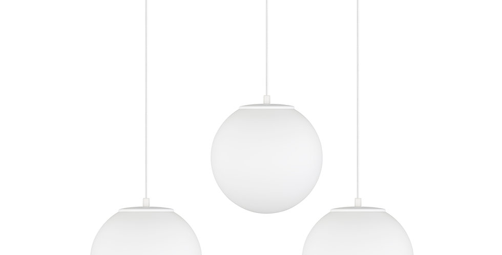 Lámpara de techo colgante triple Tsuki M 3_S Blanco