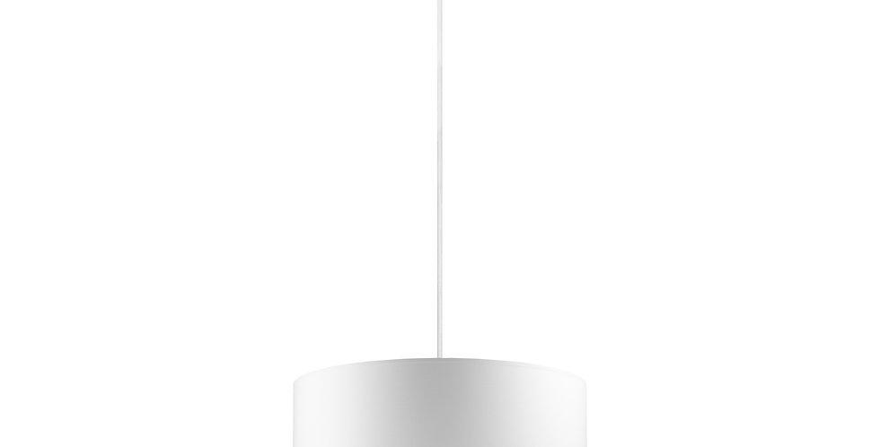 Lámpara colgante simple Mika L 1 / S Blanca/Cobre