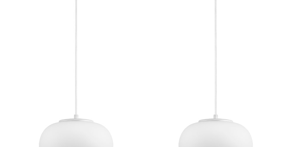 Lámpara de techo colgante doble Dosei 2_S Cable blanco