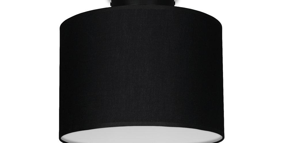Lámpara de Techo con Pantalla de Tela de Diseño Mika S 1_CP Negra