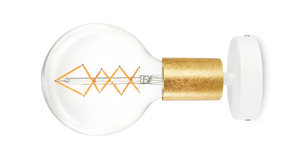 Aplique de pared Cero 1_W Oro/Blanco