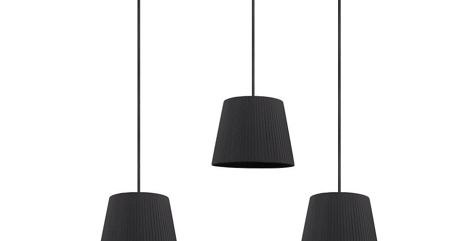 Lámpara colgante triple Kami S 3_S Negro