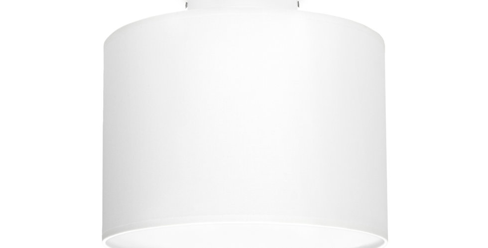 Lámpara de Techo con Pantalla de Tela de Diseño Mika S 1_CP Blanco