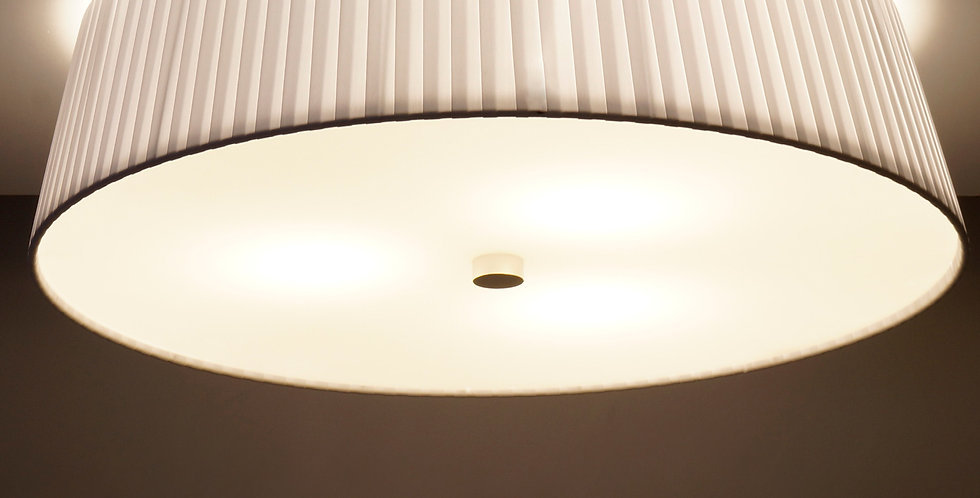 Lámpara de techo simple KAMI L 1 / C, blanca