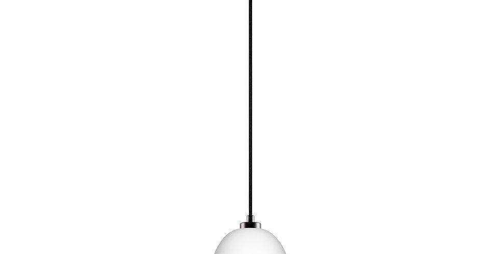 Lámpara colgante Awa 1S  Pantalla blanco mate/cobre cable negro